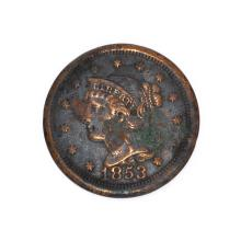 Rare 1853 Large Cent Coin