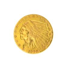 *1928 $2.50 U.S. Indian Head Gold Coin - Great Investment - (JG PS)
