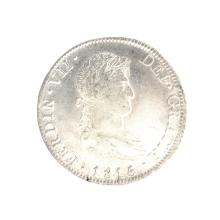 1815 Eight Reales American First Silver Dollar Coin