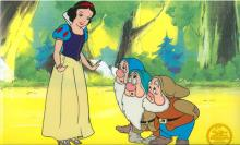 Walt Disney (After) Serigraph, Cell, Snow White W/ Certificate Of Authenticity