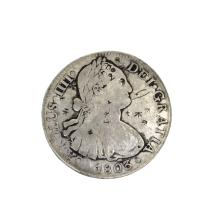 1803 Eigth Reales American First Silver Dollar Coin