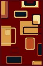 Gorgeous 5x8 Emirates Burgundy Rug  Plush, High Quality Made in Turkey (No Rug Sold Out Of Country)