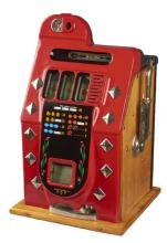 Rare Antique 5¢ Mills Chrome Diamond Front Slot Machine -PNR-