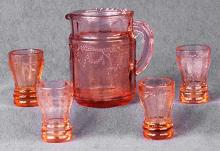 Pink Miniature Water Set of 5
