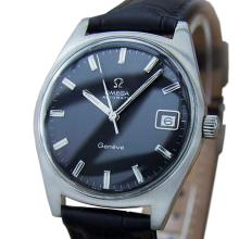 *Omega Geneve Swiss Made 1970s Vintage Automatic Stainless Steel Mens Watch