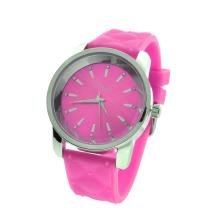 New Onyk, Stainless Steel Back, Water Resistant, Pink Rubber Strap, Ladies Watch