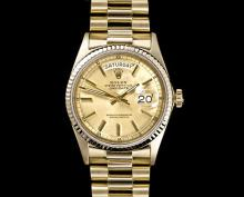 Mens Rolex Oyster Perpetual Datejust President Gold Watch -P-