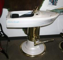 Antique Boat Barber Chair Restored - Pick Up Only -P-