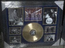 Very Rare Beatles Ringo Star Autograph Collage Certified by Global -P-