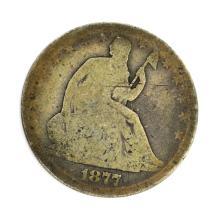 1877 Liberty Seated Half Dollar Coin