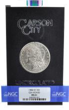 Rare 1884-CC $1 GSA Hoard MS 61 Graded Coin