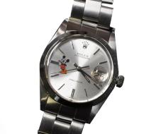 *Swiss Rolex OysterDate Precision 6694 Mickey Mouse Design Watch