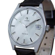 *Omega Geneve Cal 613 Swiss Made 35mm Manual Men's Stainless Steel Watch