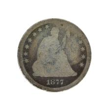 1877-S Liberty Seated Quarter Dollar Coin