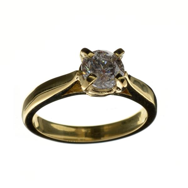 APP 6 2k 14 kt Gold 0 99CT Round Cut Diamond Ring