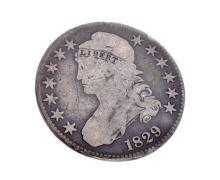 1829 Capped Bust Half Dollar Coin