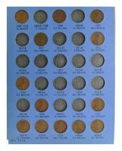 1909 To 1940 Lincoln Head Cent, Number One Collection Coin