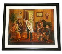 Lee Dubin- Framed Lithograph-Signature ''Doctors Office''