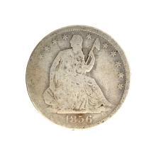 1856 Liberty Seated Half Dollar Coin
