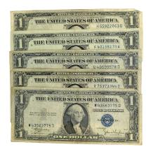 Rare (5) $1 U.S. Silver Certificates
