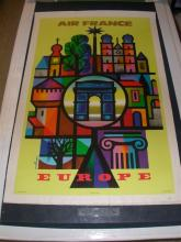 Air France Europe by Nathan on Linen