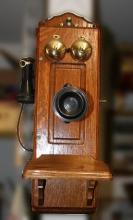 Antique Oak Telephone-Mint Condition -P-
