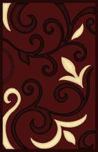 Gorgeous 4x6 Emirates Burgundy 525 Rug  Plush, High Quality Made in Turkey (No Rug Sold Out Of Country)