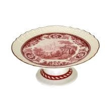Red and White Tray