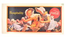 Rare Vintage Collectable Coca Cola Advertising Poster (19'' x 10'') (Dimensions Are Approximate)