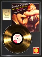 MARILYN MONROE ''Never Before and Never Again'' Gold Album