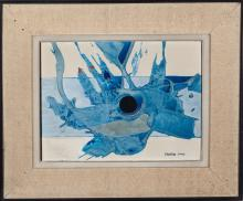 "Eduardo Sanz Fraile (Santander, 1928 - Madrid, 2013) ""Abstract composition"""