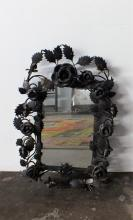 A French Wrought Iron Mirror