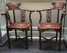A Pair of Antique Chinese Rosewood Chairs