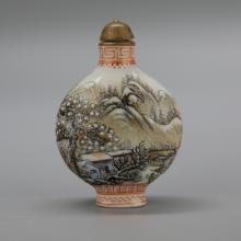 Chinese Polychrome Porcelain Snuff Bottle
