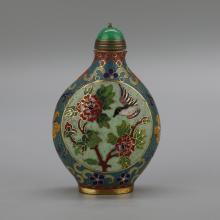 Chinese Cloisonne Enamel Snuff Bottle