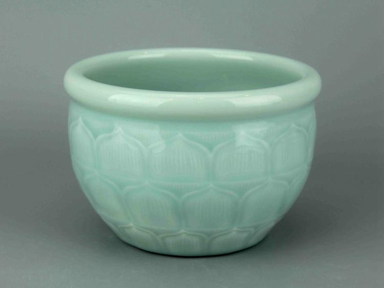 Chinese Pale Celadon Porcelain Jar