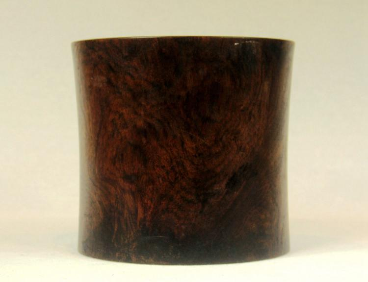 Chinese Rosewood Carved Brush Pot