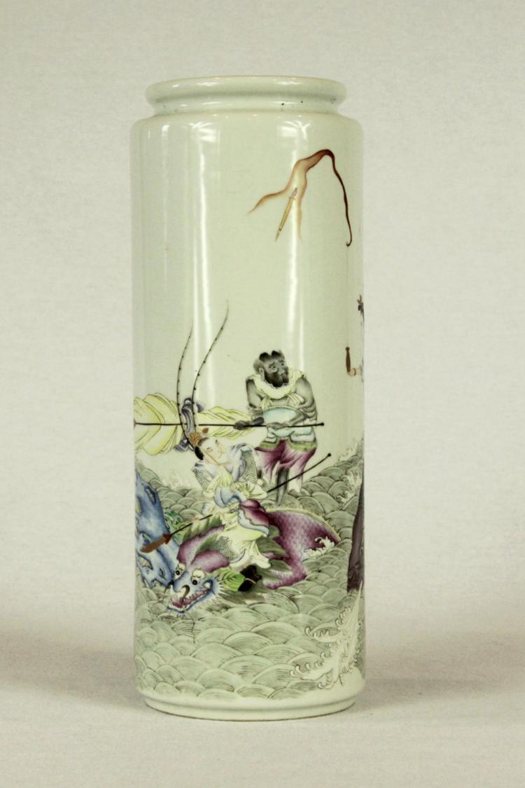 Chinese Famille-Rose Porcelain Vases