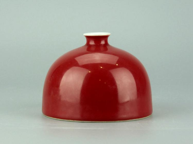Chinese Coral Red Water Pot