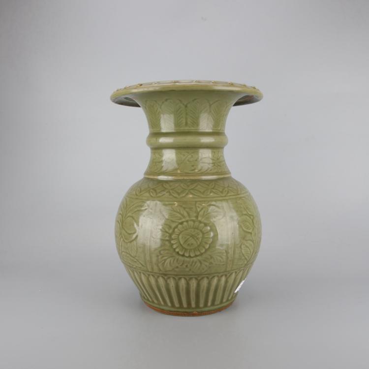 Chinese Celadon Porcelain Vase