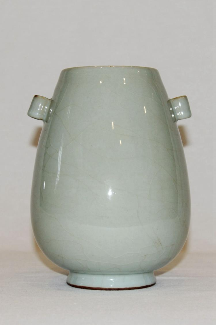 Chinese Celadon Crackle Glaze Arrow Vase