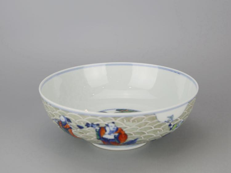 Chinese Doucai Glazed Porcelain Bowl