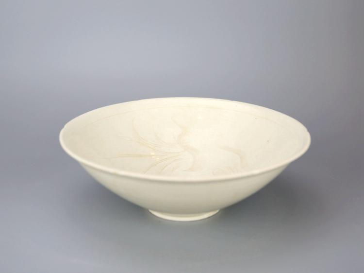 Chinese Dingyao Glazed Porcelain Bowl