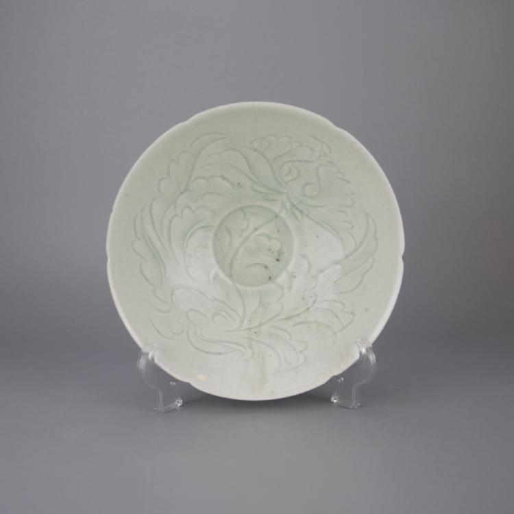 Vintage Chinese Pale Celadon Porcelain Bowl