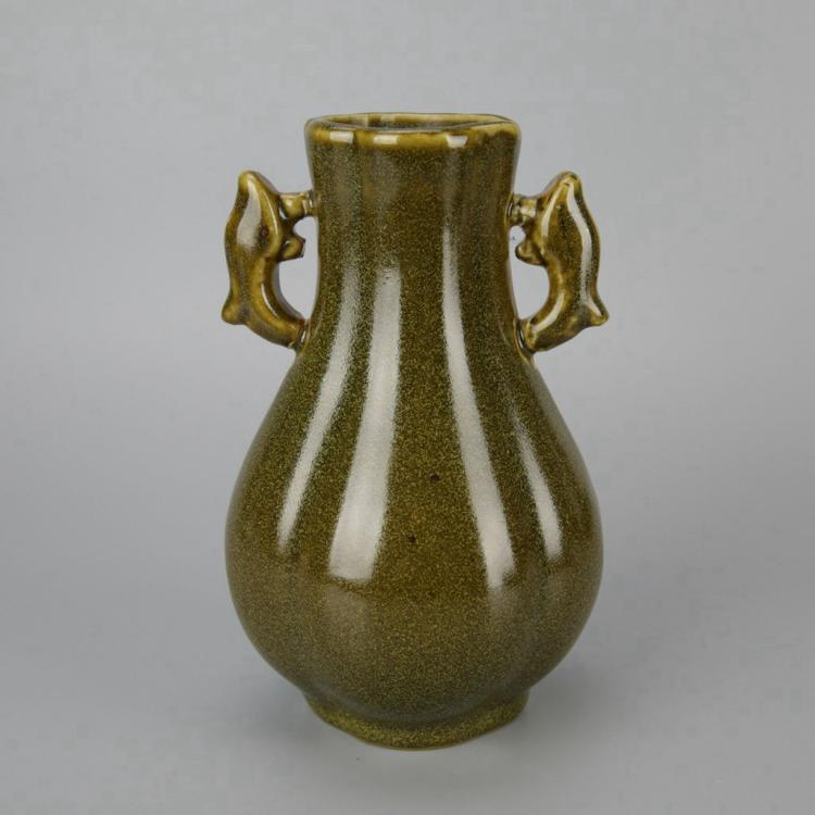 Chinese Tea Dust Porcelain Vase
