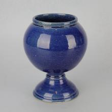 Chinese Cobalt Crackle Porcelain Vase