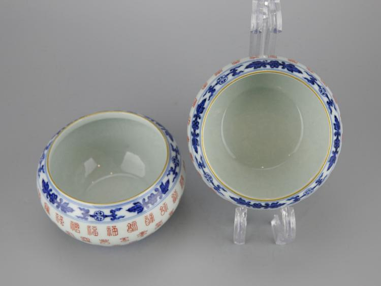 Pair of Chinese Porcelain Water Pots