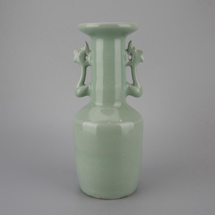 Chinese Pale Celadon Porcelain Vase