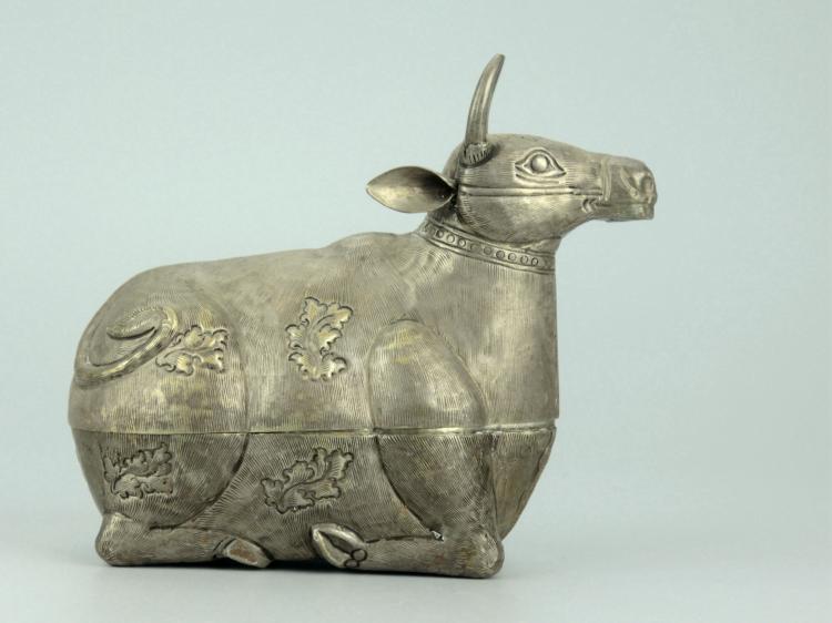 Vintage Silver Cow