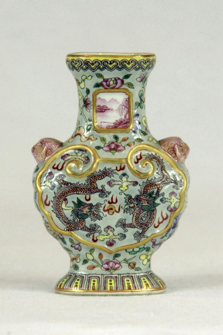 Small Chinese Famille-Rose Porcelain Vase